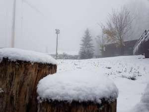 Erster Schnee Fallt Auf Sljeme Zagreb Kroatien Nachrichten